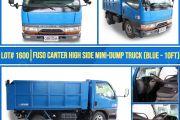LOT 1600 FUSO CANTER HIGH SIDE MINI DUMP TRUCK (BLUE 10FT)