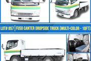 LOT_857 FUSO CANTER DROP SIDE TRUCK (MULTI-COLOR 10FT)