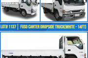 LOT 1137 FUSO CANTER DROPSIDE TRUCK
