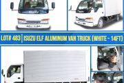 LOT 483 ISUZU ELF ALUMINUM VAN TRUCK WHITE