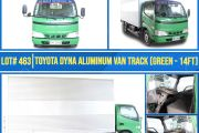 LOT #463 TOYOTA DYANA ALUMINUM VAN TRUCK (GREEN-14FT)