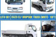 LOT# 881 ISUZU ELF DROPSIDE TRUCK (WHITE - 10FT)