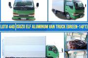 LOT# 440 ISUZU ELF ALUMINUM VAN TRUCK (GREEN - 14FT)